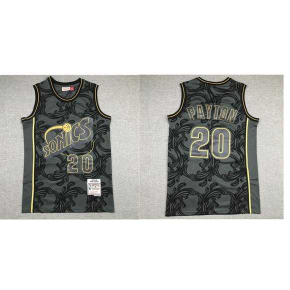 Other - Seattle Sonics Gary Payton Black Jersey